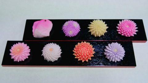 目出鯛と はさみ菊を製作しました